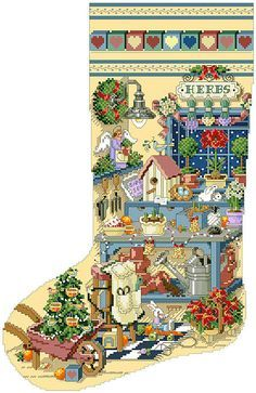 23 best counted cross stitch images on pinterest cross Better homes and gardens christmas special