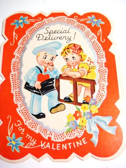Special Delivery Valentine Card UNUSED Delivery Man