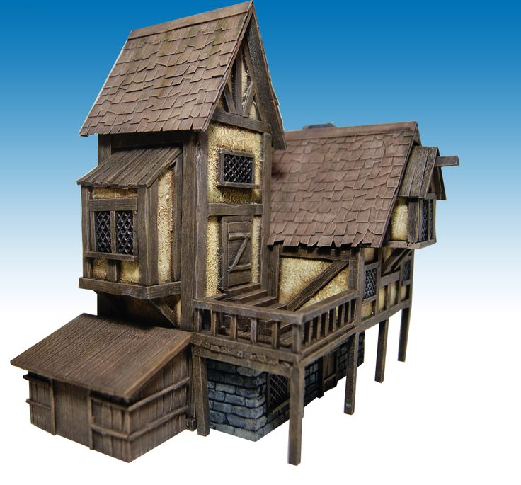 Miniature Warfare: Medieval House nr 2 - Finished