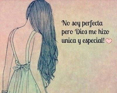 """""""I'm not perfect, but God made me unique and special."""" True!"""