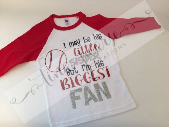 Baseball Shirt Little Sister Baseball Shirt by TinaPearseCreations