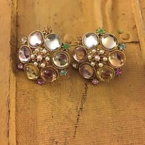 Anthropologie Jewelry - ANTHROPOLOGIE brand gold tone pastel earrings OS