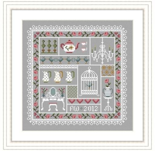 Shabby Chic Cross Stitch Kit - £22.95 on Past Impressions | by Little Dove Designs
