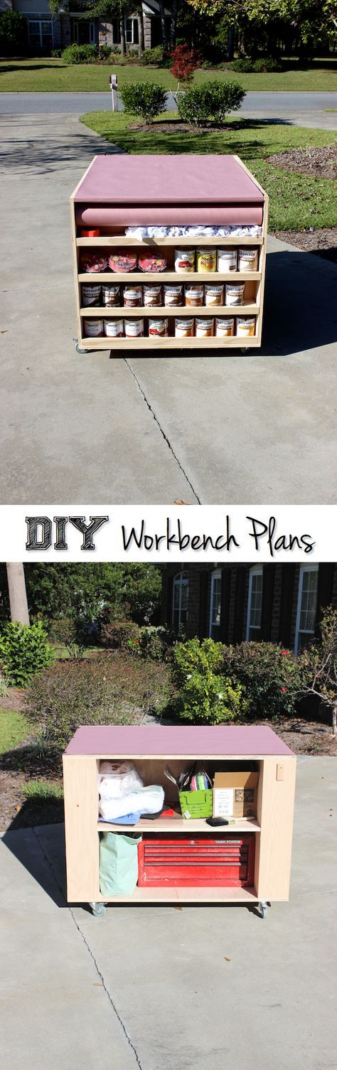 Best Portable Workbench EVER with Storage | Free DIY Plans | Rogue Engineer