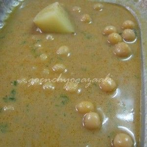 white-peas-gravy-(Chana-patal bhaaji) served in most of Goan local restaurants, veg gravy recipe from Goa, India with the flavors of all the whole masalas.