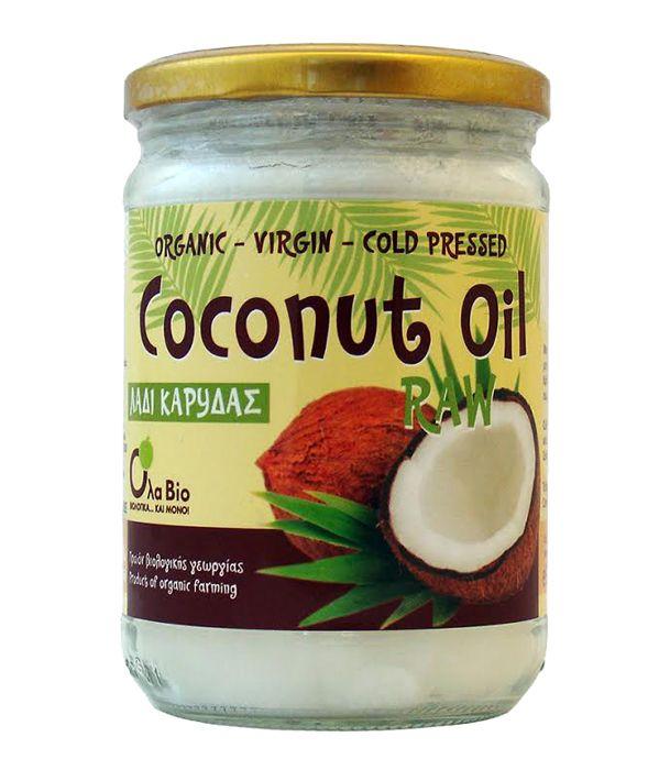 """Και πάλι διαθέσιμο το εξαιρετικής ποιότητας Βιολογικό, Παρθένο Λάδι Καρύδας ψυχρής έκθλιψης Coconut Oil της OlaBio. Τα 500ml μόνο 9,90 ευρώ και τα 1000ml (2x500mi) 18,90 ευρώ. Και με νέο look. Στο GoodLifeshop.gr και στο κατάστημα Βιολογικών προϊόντων """"Ναράγιενα"""" Ιωνίας 49, στη Νέα Σμύρνη. Τηλεφωνικές παραγγελίες στο 210 9317206."""