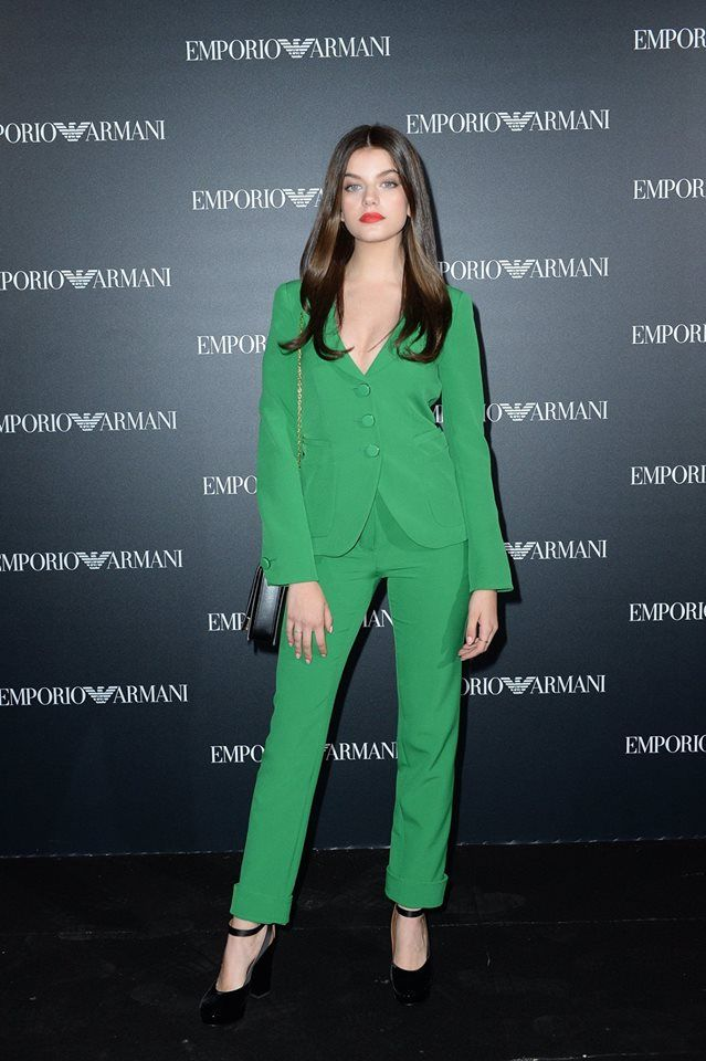Beautiful Sonia Ben Ammar in #EmporioArmani during the #EALiveInParis show.