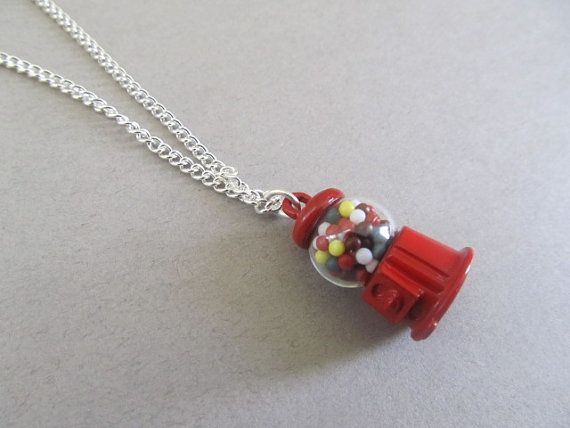 Buble Gum Ball Candy Shop Necklace by IrisJane on Etsy, $12.75