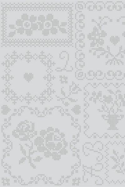 386004 cross stitch grijs behang eijffinger kruisjessteek smartpaper vliesbehang www.wemekampschildersbedrijf.nl