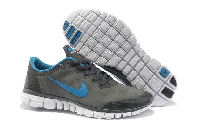 Nike Free Suede Mens Shoes grey blue