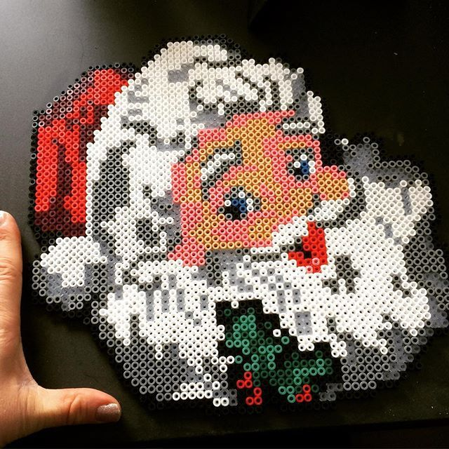 Santa Claus Christmas hama perler beads by gundtoft80