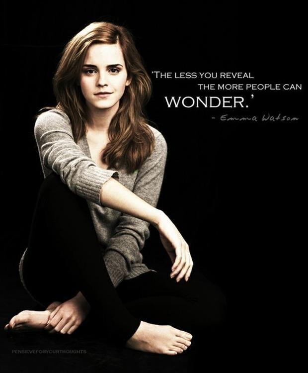 Oh, I wonder A LOT about you, Emma. And when I say 'wonder' what I actually mean is...