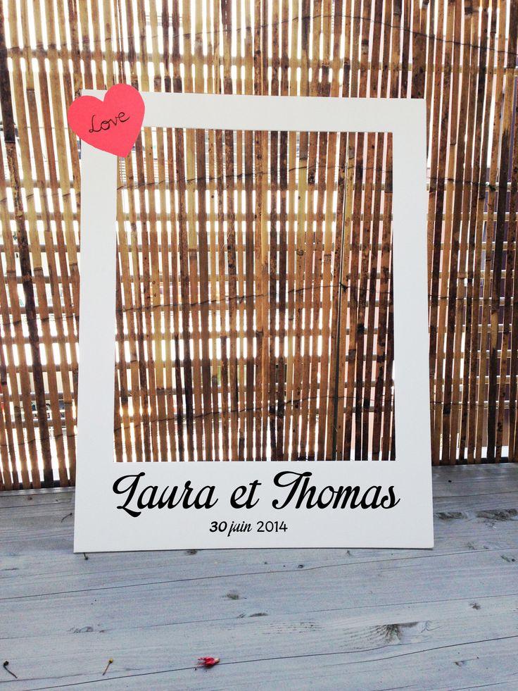 Photobooth cadre polaroïd pour mariage - petit ou grand format par crea-graphic