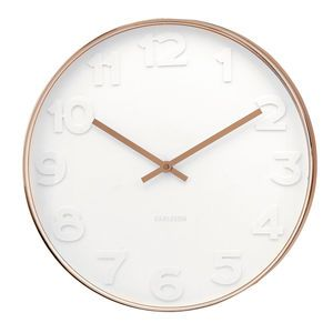 White And Copper Wall Clock - clocks