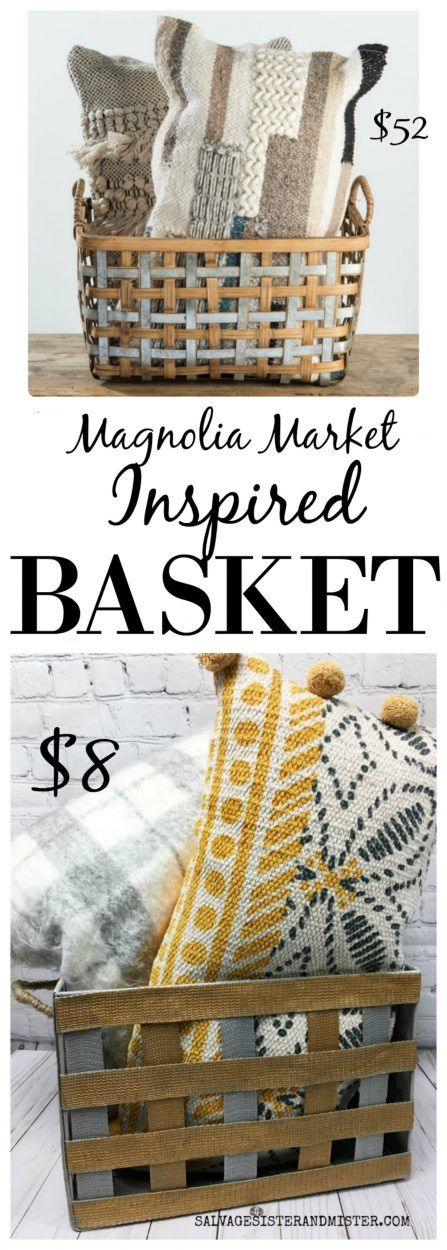 DIY Magnolia Market Inspired Basket Makeover