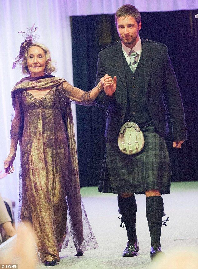 Making a comeback: Marion Finlayson, 80, returns to the catwalk at Aberdeen City Council's 50 Plus Festival