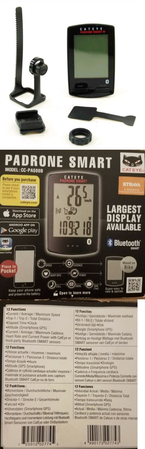 Cycle Computers and GPS 30108: Cateye Padrone Smart Plus Cc-Sc100b Cycling Computer, Black -> BUY IT NOW ONLY: $45 on eBay!
