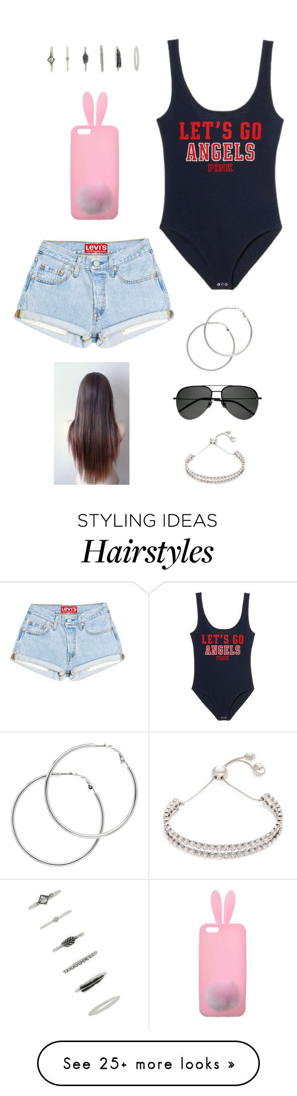 """Untitled #3789"" by twerkinonmaz on Polyvore featuring Melissa Odabash, Miss Selfridge, Forever 21, Yves Saint Laurent and Marc by Marc Jacobs"