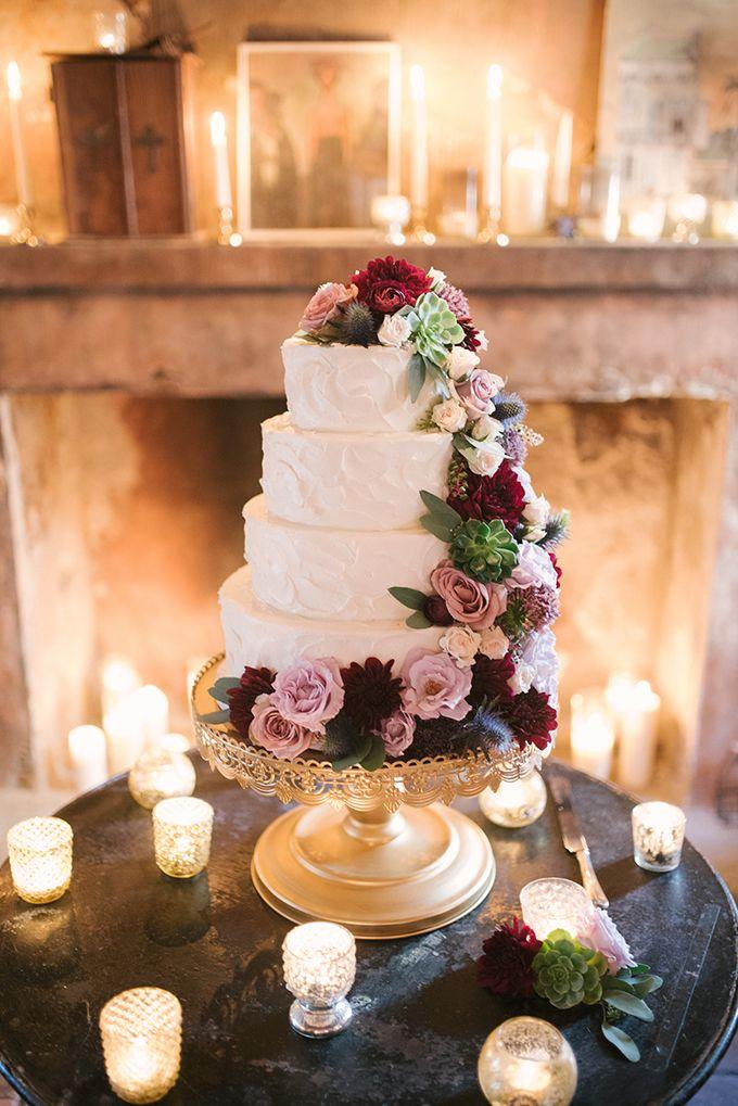 romantic cake |Lauren Carroll Photography | Glamour & Grace