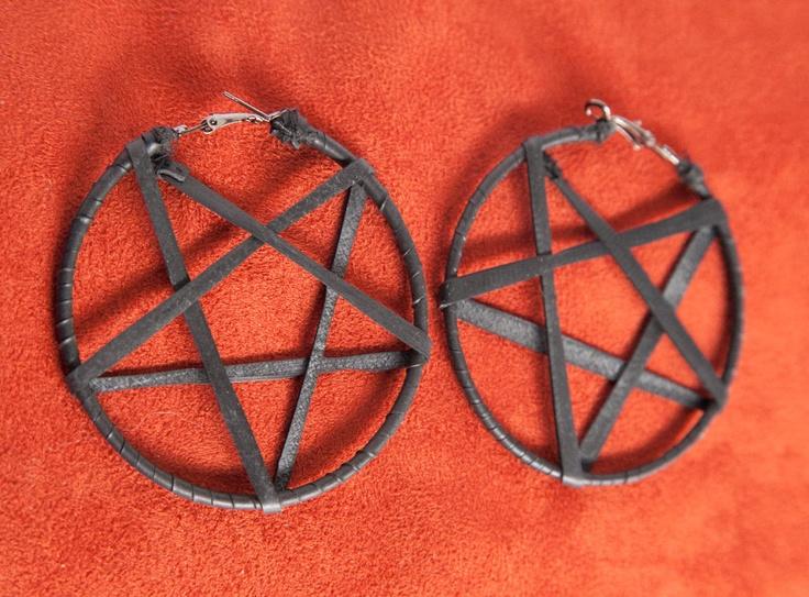 Vegan Star Hoop Earrings - for guaged ears. $30.00, via Etsy.