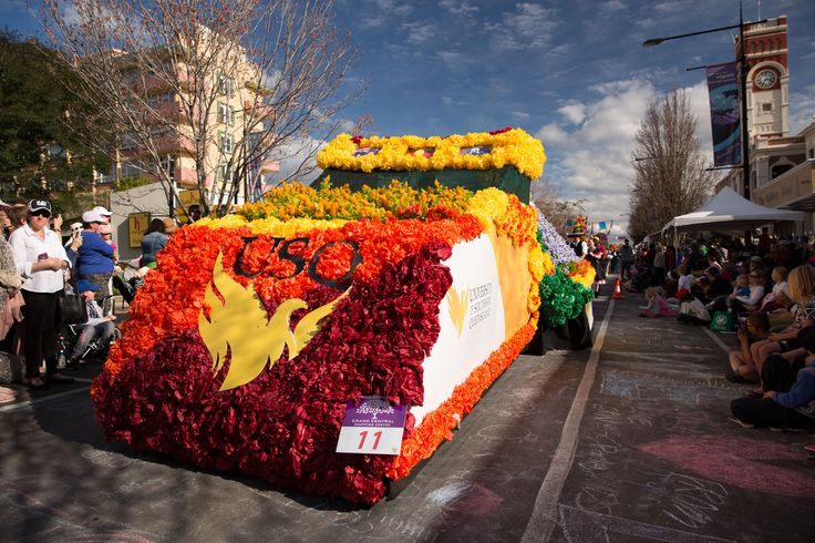 Another impressive float created for the Grand Central Floral Parade