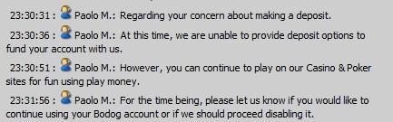 bodog deposit problem chat