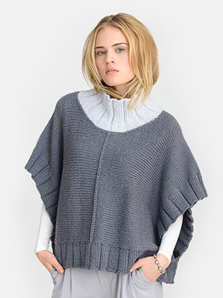 knit pattern great easy knit to make for autumn walks or gifts Blue Sky Alpacas – Two Harbors Poncho - NEW!