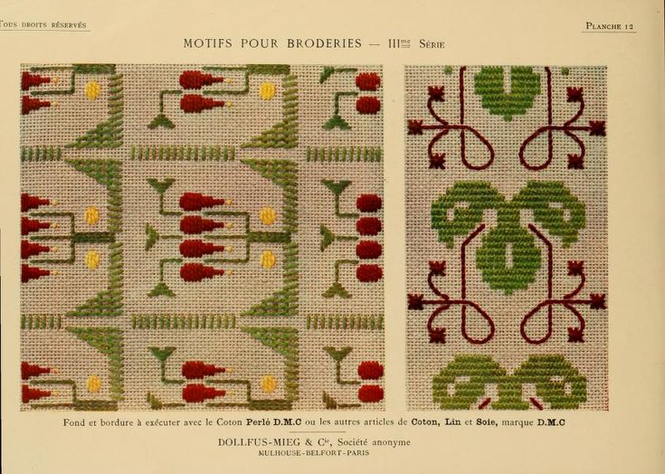 Motifs pour broderies. (IIIme série) No. 12