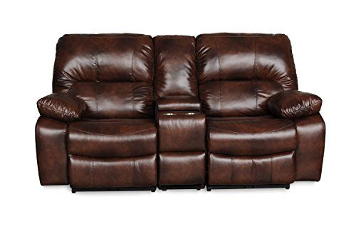 Cool Bourbon Series Reclining Dual Sofa With Console In Dark Beatyapartments Chair Design Images Beatyapartmentscom