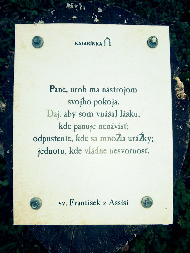 Katarínka - Dechtice - Slovensko - sv. František - pin na pni - pax et bonum - pokoj a dobro