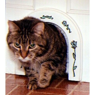Cathole cat door stained to match door new house pinterest interior doors doors and cats - Cat door for hollow core door ...