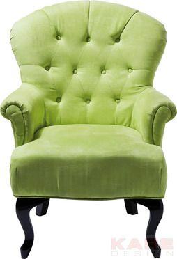 Stuhl Mit Armlehne Cafehaus Grün #kare #design #Sessel #wien #grün #