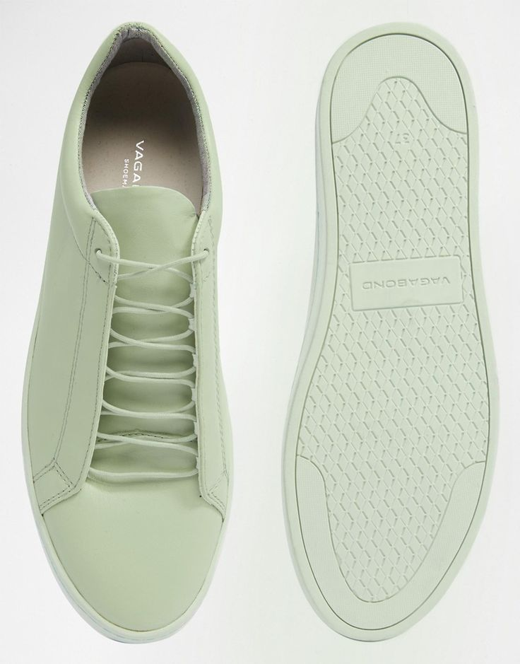 Image 3 ofVagabond Zoe Leather Mint Green Trainers