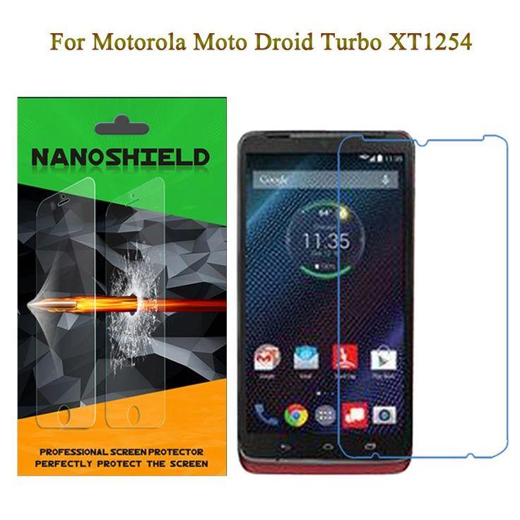 Nanoshield Anti Shock Tpu Screen Protector For Moto Droid Turbo Xt1254 Rejection Upgraded Buff Scre Phone Screen Protector Protector