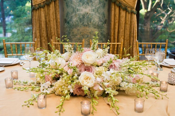 Pink Hydrangea Centerpieces | White and Pink Rose and Hydrangea Centerpiece | photography by http ...