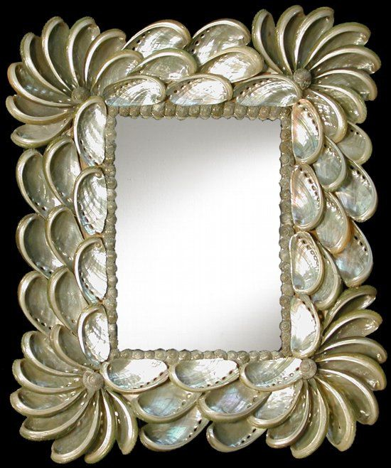 Haliotes Shell Mirror by SunCoastShells on Etsy, $25.00