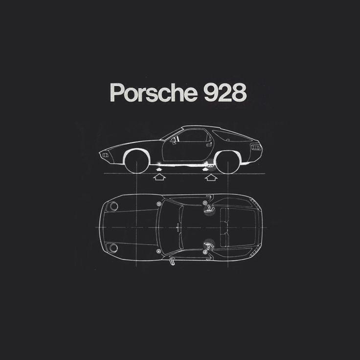 Porsche 928 Outline, 1978