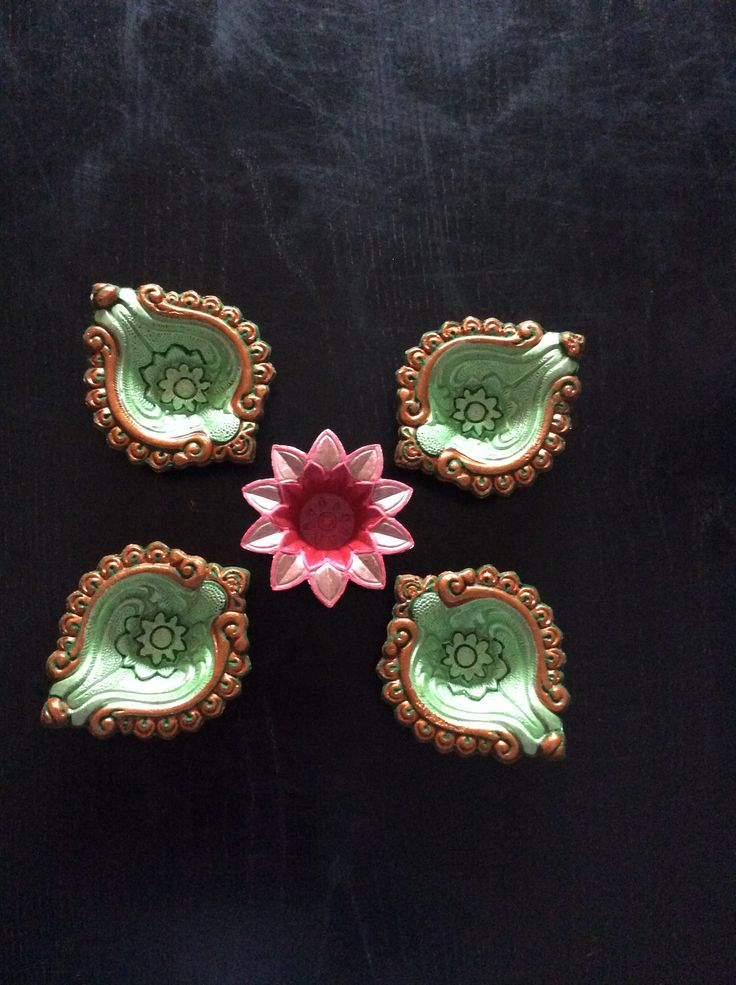 Beautifully hand painted diyas - for this Diwali.  We all wish you a very happy Diwali