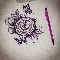 Bildergebnis für compass tattoo