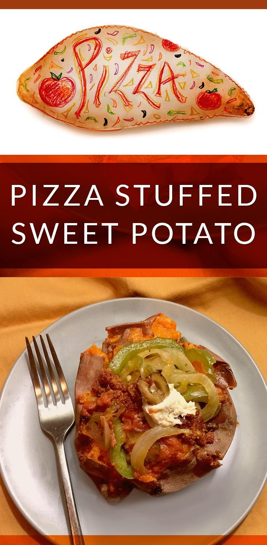 Pizza Stuffed Sweet Potato