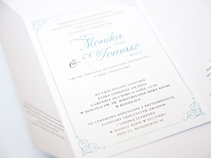Zaproszenia składane : Zaproszenia składane Luca