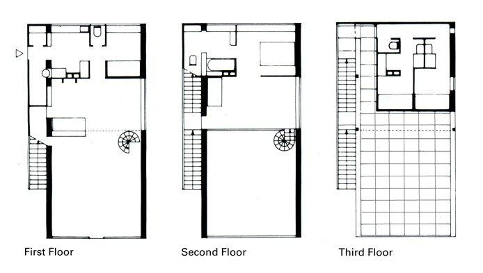 Plan Elevation Maison : Maison citrohan g pixels archistuff