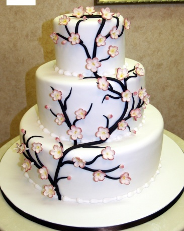 cake boss cake. food-3////my wedding cake cherryblossom