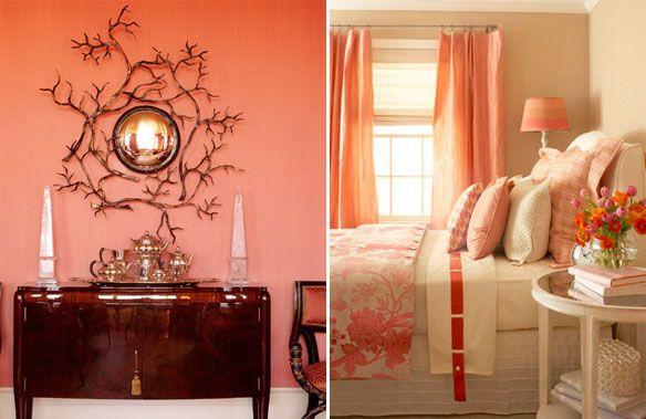 коралловый цвет в интерьере   Ремонт квартиры своими руками