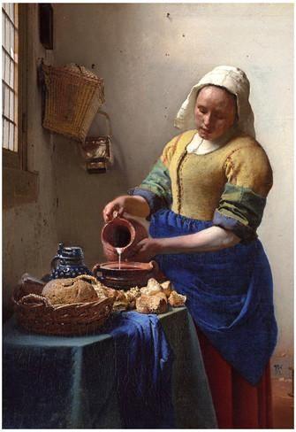 Johannes Vermeer The Milkmaid Art Print Poster Photo at AllPosters.com