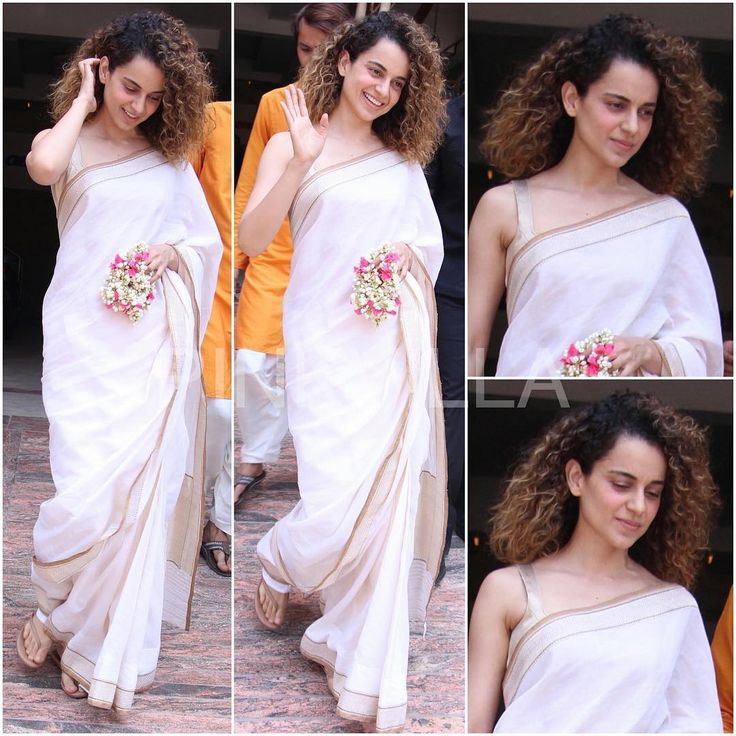 "1,548 Likes, 14 Comments - BollyStyleFile by Aman (@eattweetblog) on Instagram: ""Who : #KanganaRanaut Where : #Navratri Pooja Wearing : @GoodEarthIndia Saree • #Bollywood #Fashion…"""
