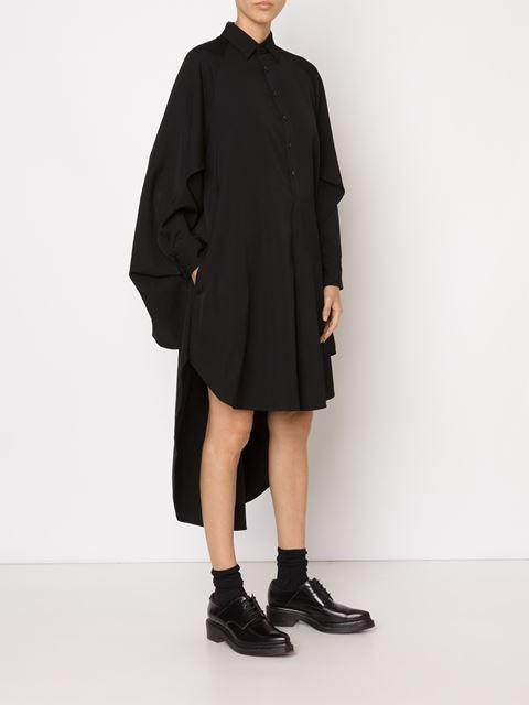Yohji Yamamoto - asymmetric shirt dress                                                                                                                                                                                 More