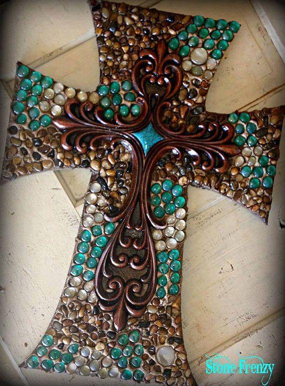 Wall cross cross decorative wall cross religious by StoneFrenzy, $85.00 www.stonefrenzy.com