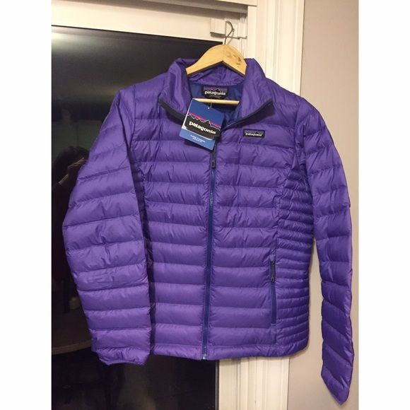 Patagonia Down Sweater Jacket NWT! Women's Puffy Down Coat. Color: Purple with a navy Inseam. Willing to negotiate. $120 on Vinted! Patagonia Jackets & Coats