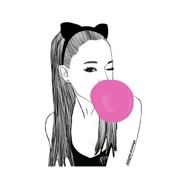 Arianaaaa We Heart It ❤ liked on Polyvore featuring filler and outline
